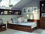 Кровать раздвижная JLOZ80_160 без матраса и подушек Индиана  (BRW/БРВ Украина) 790/1540х2020х600мм, фото 2