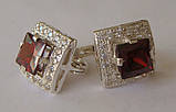 Серьги 26690ММ, серебро 925 проба, кубический цирконий., фото 2