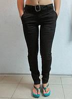 Женские летние джинсы ADIDAS (668) черные код 034 Б