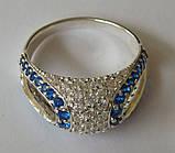 Кольцо КЕ629МДс, серебро 925 проба, кубический цирконий., фото 2