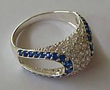 Кольцо КЕ629МДс, серебро 925 проба, кубический цирконий., фото 3