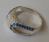 Кольцо КЕ629МДс, серебро 925 проба, кубический цирконий., фото 4