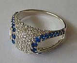 Кольцо КЕ629МДс, серебро 925 проба, кубический цирконий., фото 5
