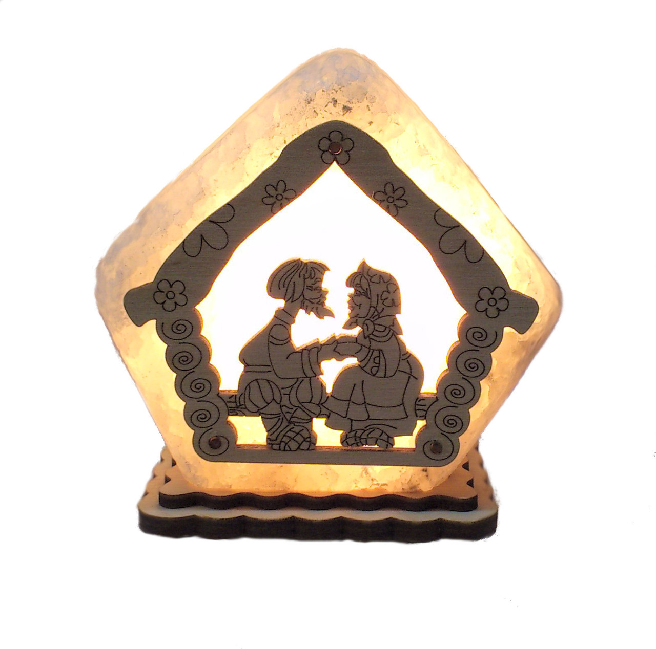 Соляной светильник Домик маленький Бабушка с дедушкой