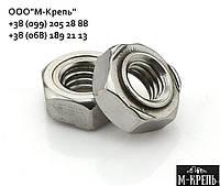 Гайка М4 DIN 929 приварная шестиграная нержавеющая