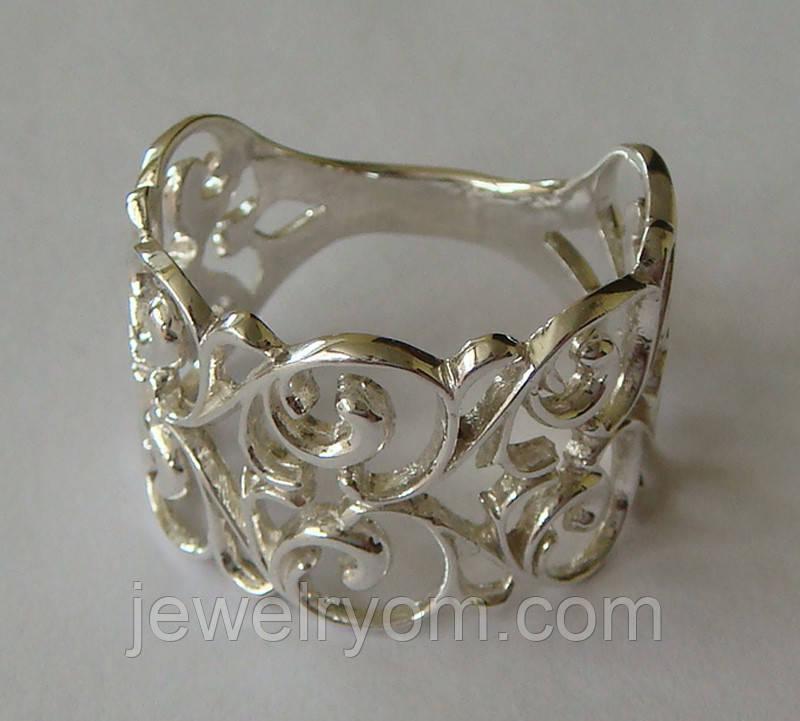 Кольцо 110250ЮМ, серебро 925 проба.