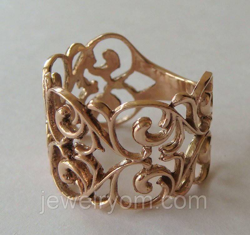 Кольцо 110250ЮМз, золото 585 проба.