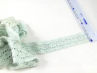 Кружево стрейч цвет мятный ( тиффани ) 30 мм N982