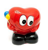 Копилка из керамики Сердечко с шариками