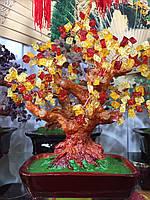 Дерево счастья из камня Янтарь