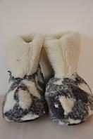 Чуни из натуральной овчины на резиновой подошве 38-39