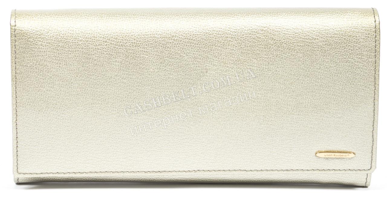 Оригинальный женский кожаный лаковый кошелек высокого качества LISON KAOBERG art. LK60-60011 C gold