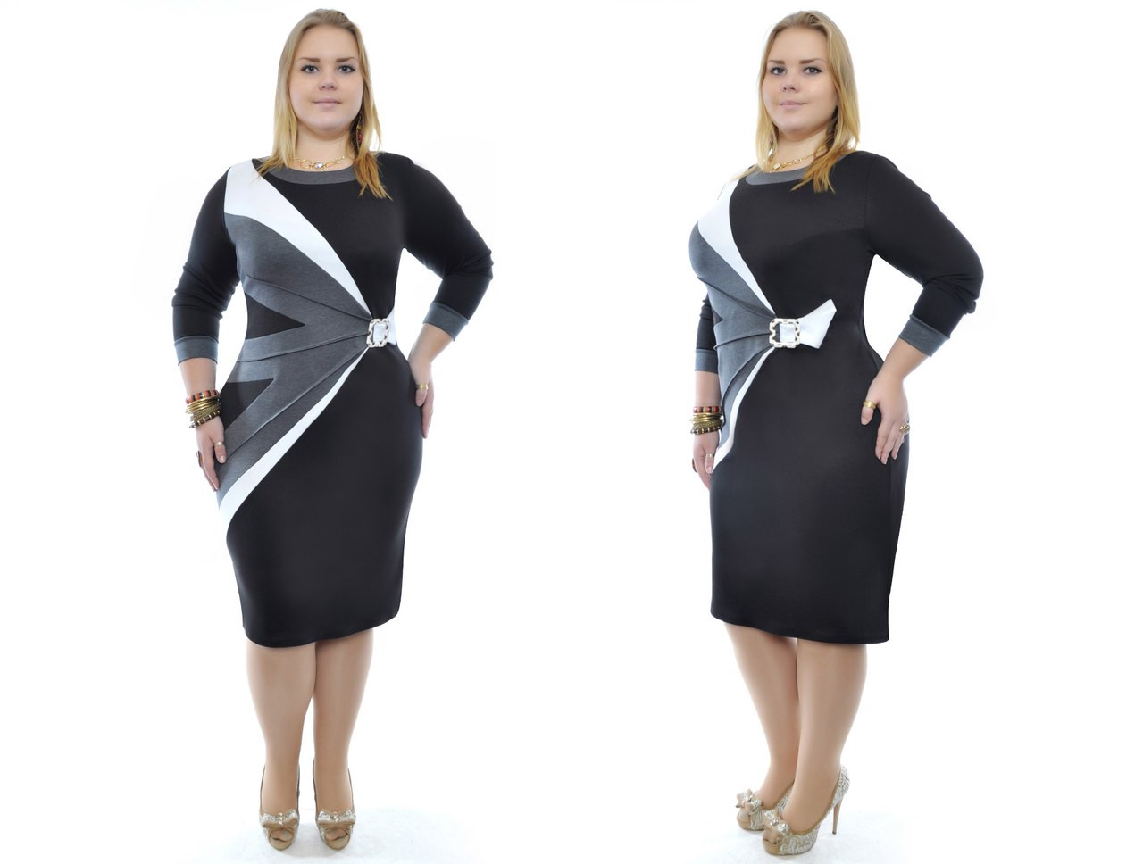 Платье батал французский трикотаж