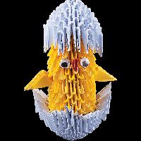 """Модульное оригами Бумагия """"Цыпленок в скорлупе"""" 468 модулей ОМ6088"""