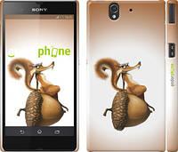 """Чехол на Sony Xperia Z C6602 Ледниковый период. Белка с орехом """"200c-40"""""""