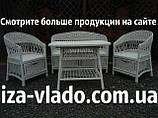 Біла плетені меблі з лози для дачі та дому