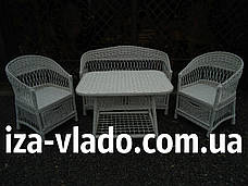 Белая плетеная мебель из лозы., фото 3