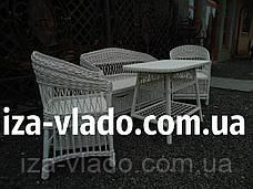 Белая плетеная мебель из лозы., фото 2