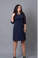 Стильное женское платье батальных размеров