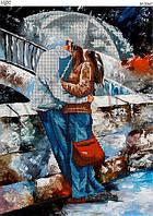 Схема для вышивки бисером Любовь под зонтом