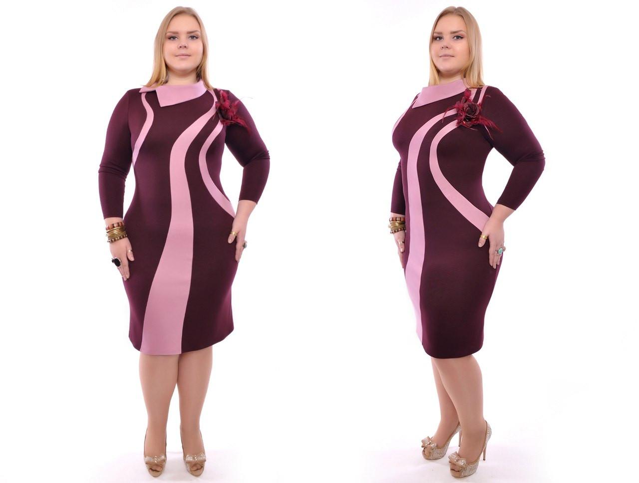 22a312660ff Платье батал французский трикотаж - Оптовый интернет-магазин