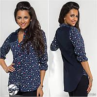 Женская рубашка-туника с принтом