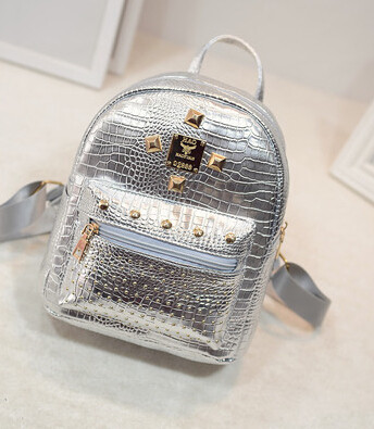 Рюкзак сріблястий