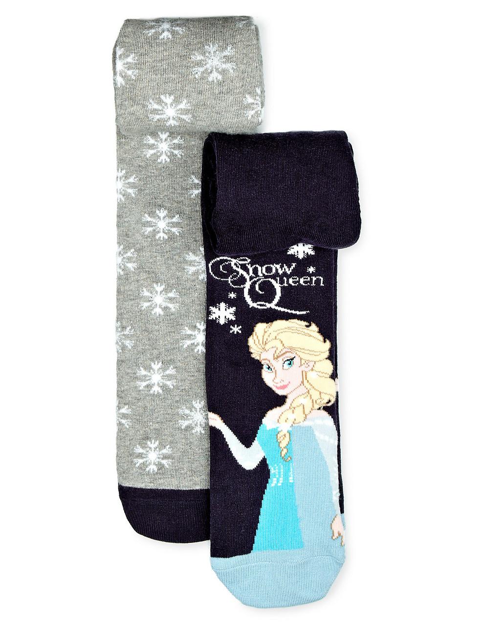Колготы детские Disney Frozen на девочку Набор 2 шт Marks&Spencer (Англия)