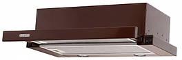 Кухонная вытяжка Eleyus Шторм LED 700 / 60 (белая, бежевая, черная, коричневая) Коричневый