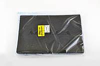 Элемент воздушного фильтра на скутер   заготовка 200х300mm   (поролон с пропиткой)   (черный)