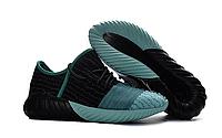 Мужские Кроссовки  Adidas Yeezy Boost 550 черные с бирюзой