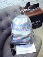 Рюкзак серебристый голограмма