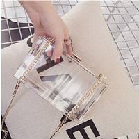 Прозрачная пластиковая сумка, кроссбоди