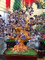 Дерево счастья из камня Аметист
