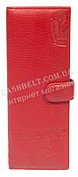 Стильная оригинальная вместительная визитница тисненая кожа art. PD-756A красн, фото 1