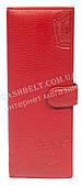 Стильная оригинальная вместительная визитница тисненая кожа art. PD-756A красн