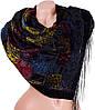 Практичный женский бархатный шарф 152 на 51 см ETERNO ES0206-6-16 черный
