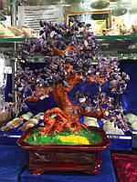 Дерево счастья из камня Аметист (35 см)
