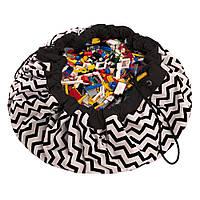 Play&Go - Мешок для игрушек, зигзаг черный