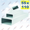 ФОТО: Плоский канал сечением 55х110 мм