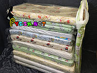 Матрас ортопедический в детскую кроватку двухслойный (кокос+поролон) 120х60х6 см