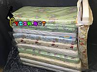 Матрас ортопедический в детскую кроватку двухслойный толстый (кокос+поролон) 120х60х10см.