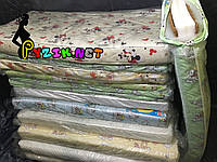 Матрас ортопедический в детскую кроватку трехслойный толстый (кокос+поролон+кокос) 120х60х10см.