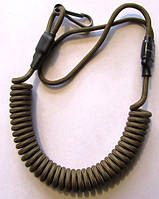 Страховочный, пистолетный шнур (пружинка)  койот