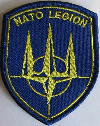 """Сувенирный шеврон """"NATO LEGION"""" нашит на липучку, фото 2"""