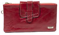 Удобный женский кожаный кошелек барсетка высокого качества SALFEITE art. B13-2019 красн