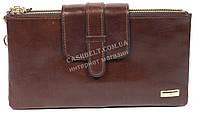 Удобный женский кожаный кошелек барсетка высокого качества SALFEITE art. B13-2019 коричн