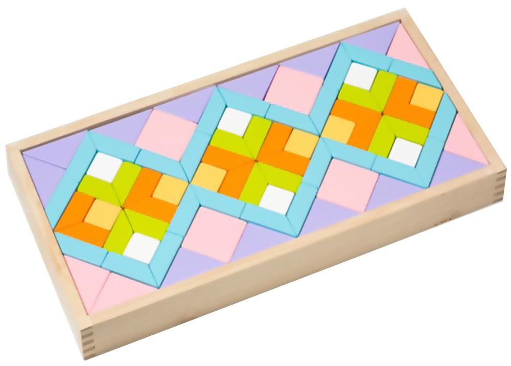 Детский деревянный конструктор орнамент LR-1 TM Cubika (11698)