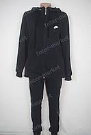 Женский утепленный cпортивный костюм большие размеры Nike черный
