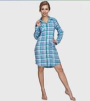 Хлопковая Фланелевая женская ночная сорочка Key LND 417 B6